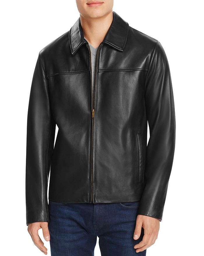 Cole Haan - Leather Shirt Jacket