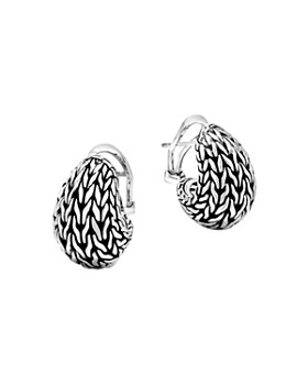 JOHN HARDY - Sterling Silver Classic Chain Graduated Buddha Belly Earrings