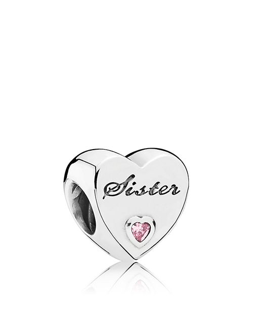 Pandora Jewelry Sister Charm: PANDORA Moments Collection Sterling Silver & Cubic