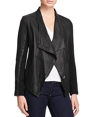 Kenrick Draped Leather Coat