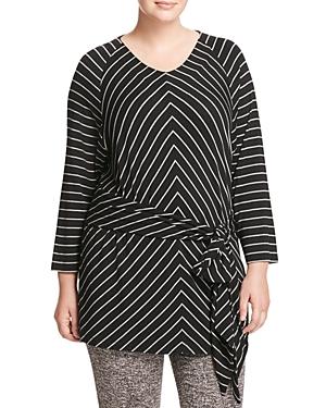 Marina Rinaldi Vanda Striped Jersey Tunic