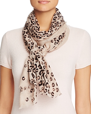 Aqua Leo Animal Print Scarf - 100% Exclusive