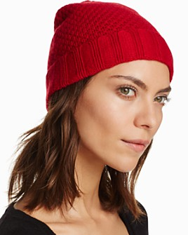 C by Bloomingdale's - Waffle Knit Cashmere Hat - 100% Exclusive