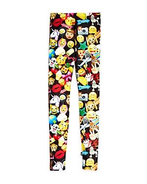 Terez Girls' Emoji Leggings, Big Kid - 100% Exclusive