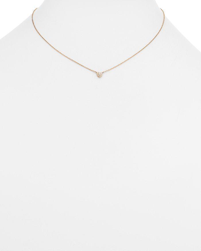 88081b409788 Bloomingdale's - Mini Diamond Heart Pendant Necklace in 14K Rose Gold, .07  ct.