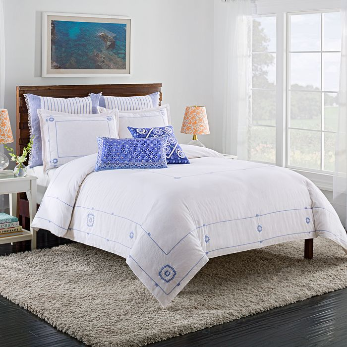 cupcakes and cashmere - Blue Frame Duvet Cover, Full/Queen
