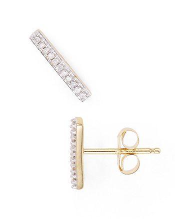 Adina Reyter - Diamond Pavé Bar Stud Earrings