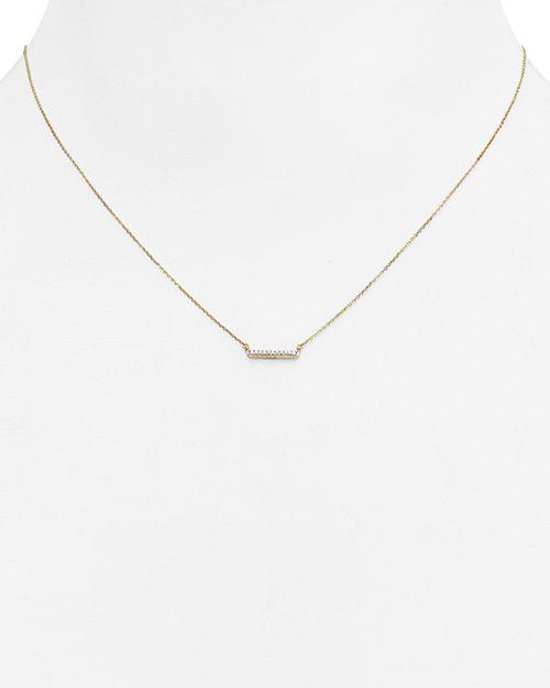 """Adina Reyter - Diamond Pavé Bar Pendant Necklace, 15"""""""