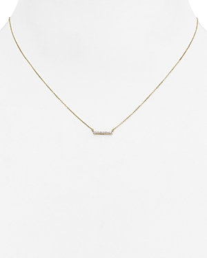 Adina Reyter Diamond Pave Bar Pendant Necklace, 15