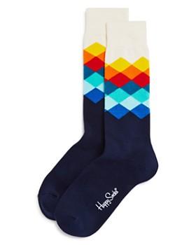Happy Socks - Men's Faded Diamond Socks