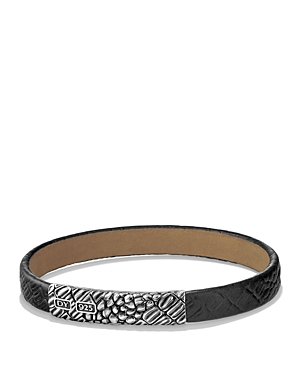 David Yurman Naturals Gator Leather Bracelet in Black