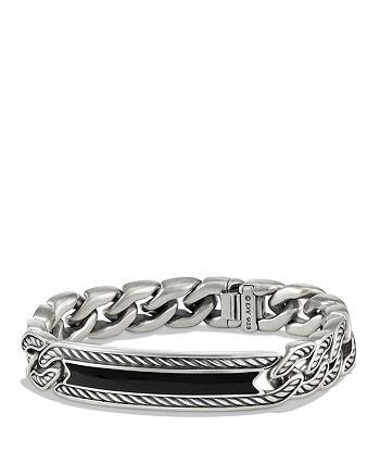 David Yurman - Maritime Curb Link ID Bracelet with Black Onyx