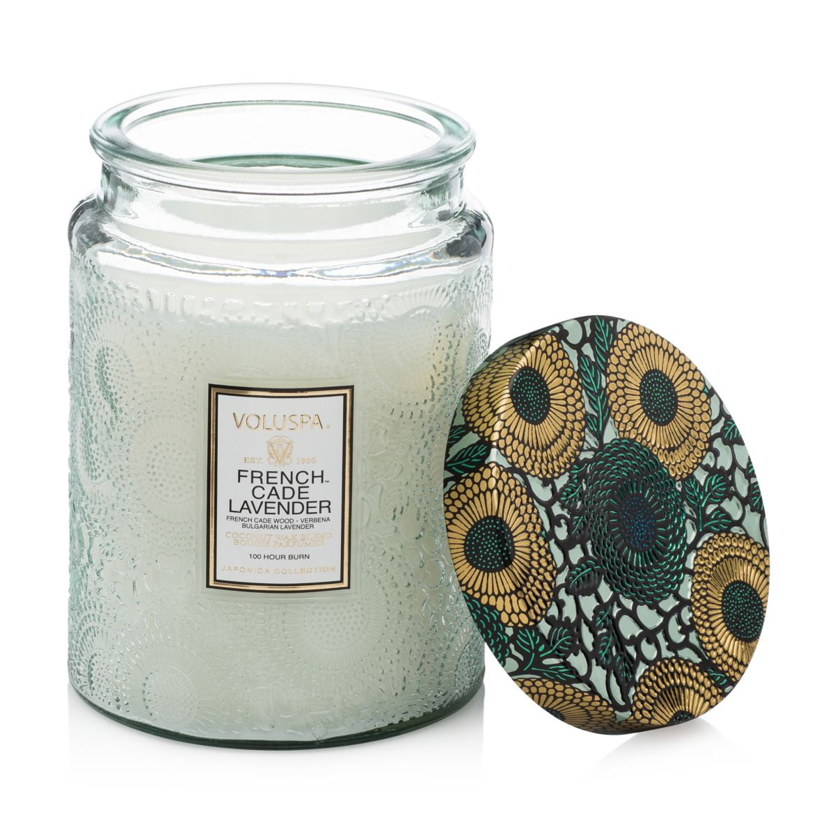 Japonica French Cade & Lavender Large Glass Candle by Voluspa
