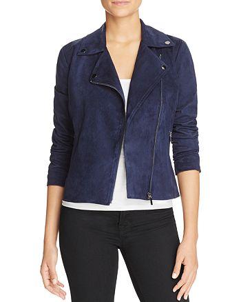 Bagatelle - Faux Suede Moto Jacket