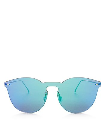 Illesteva - Women's Leonard II Mirrored Rimless Round Sunglasses, 60mm