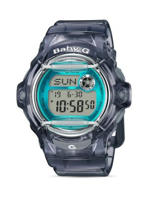G-SHOCK WOMEN'S DIGITAL GRAY RESIN STRAP WATCH 43X46MM BG169R-8B