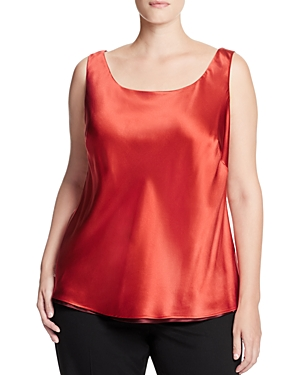 Lafayette 148 New York Plus Reversible Silk Tank
