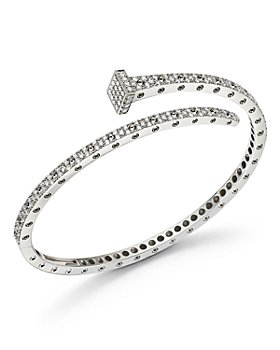 Roberto Coin - 18K White Gold Pois Moi Chiodo Diamond Bangle - 100% Exclusive