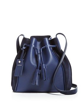 Longchamp - Penelope Leather Bucket Bag