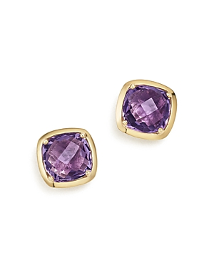 Amethyst Square Stud Earrings in 14K Yellow Gold - 100% Exclusive