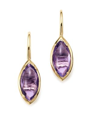 Amethyst Marquise Drop Earrings in 14K Yellow Gold - 100% Exclusive