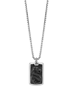 "John Hardy Sterling Silver Legends Naga Large Dog Tag Necklace with Black Onyx, 26"" - Bloomingdale's_0"
