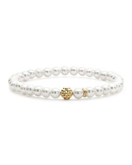 LAGOS - Caviar Icon Cultured Freshwater Pearl Bracelet with 18K Gold Caviar Station