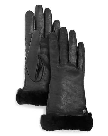 $UGG® Classic Leather Tech Gloves - Bloomingdale's