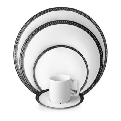 Soie Tressee Black Espresso Cup and Saucer