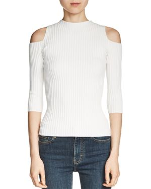Maje Manu Cold-Shoulder Sweater