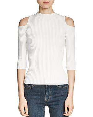 Maje Manu Cold-Shoulder Sweater