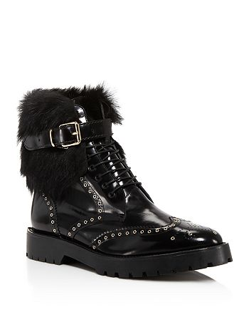 Burberry - Women's Whenaston Ey Fur Trim Boots