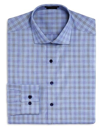Vardama - Mercer Check Stain Resistant Regular Fit Dress Shirt