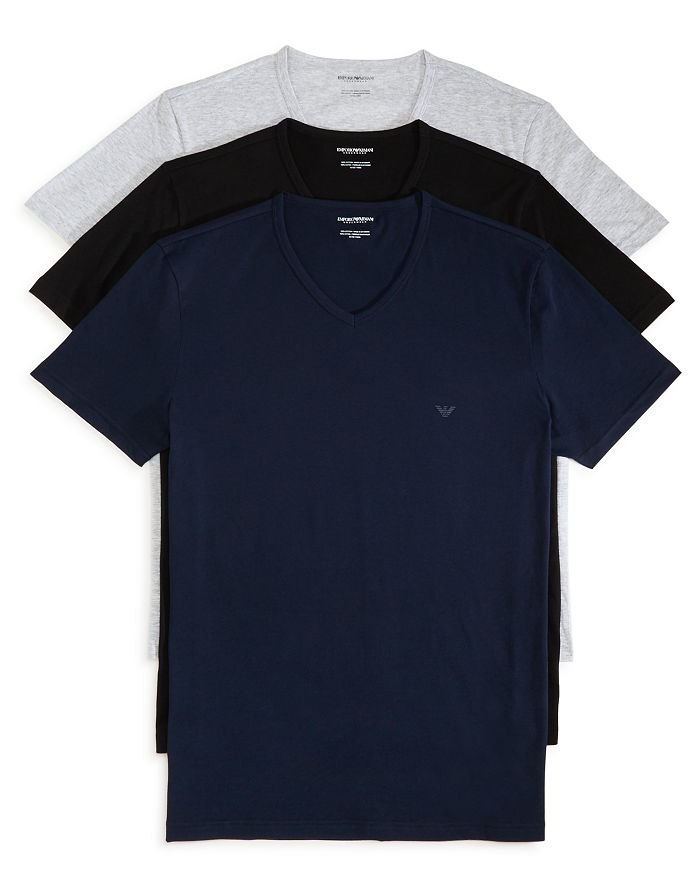 889e05bdb3 Armani - Pure Cotton V-Neck T-Shirts - Pack of 3