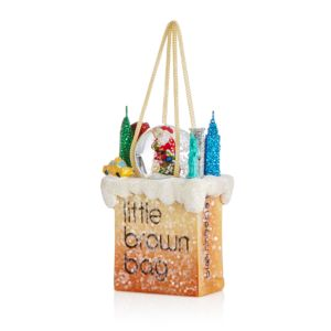 Bloomingdale's Little Brown Bag Santa Ornament - 100% Exclusive