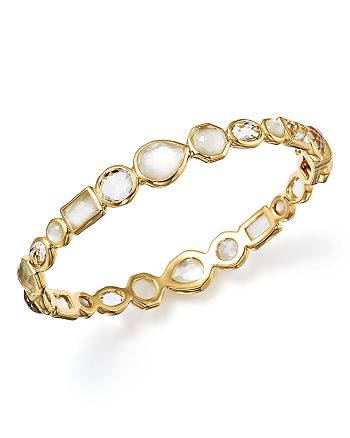 IPPOLITA - 18K Gold Rock Candy® Mixed Stone Bangle Bracelet in Flirt