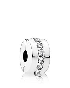 PANDORA Moments Collection Sterling Silver & Cubic Zirconia Shining Path Clip - Bloomingdale's_0