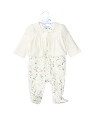 Ralph Lauren Childrenswear Girls' Cardigan, Bodysuit & Overalls Set - Baby