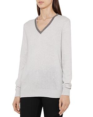 Reiss Torryn Embellished Sweater