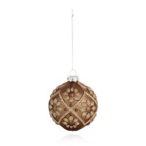 Bloomingdale's Bronze Embellished Glass Ball Ornament - 100% Exclusive