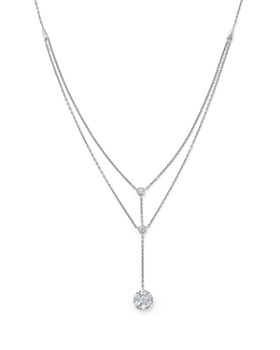 Bloomingdale's - Diamond Station Y Necklace in 14K White Gold, .50 ct. t.w.- 100% Exclusive