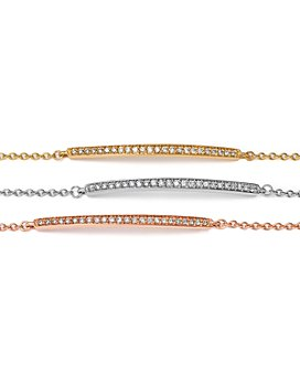 Bloomingdale's - Diamond Bar Bracelet in 14K Gold, .25 ct. t.w. - 100% Exclusive