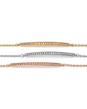 Bloomingdale's - Diamond Bar Bracelet in 14K Gold, .25 ct. t.w. - 100% Exclusive