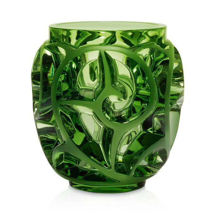 Lalique - Tourbillon Light Green Vase
