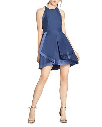 HALSTON HERITAGE - Layered Fit-and-Flare Dress