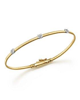 Marco Bicego - Masai 18K Yellow Gold Small Three Station Diamond Bracelet