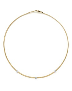 "Marco Bicego - 18K Yellow Gold Masai Three Station Diamond Necklace, 16.5"" - 100% Exclusive"
