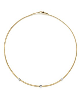 5df8281b9d9f4e Marco Bicego - 18K Yellow Gold Masai Three Station Diamond Necklace, ...