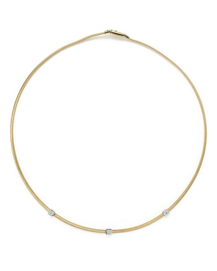 "Marco Bicego - 18K Yellow Gold Masai Three Station Diamond Necklace, 16.5"" - 100% Exclusive"