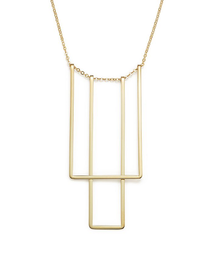 "Bloomingdale's - 14K Yellow Gold Simple Square Bib Necklace, 17"" - 100% Exclusive"